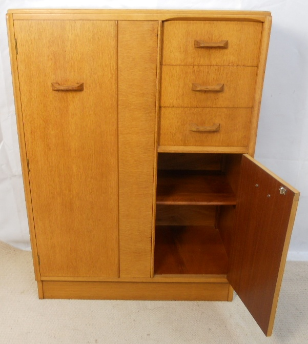 G Plan Light Elm Small Compactum Wardrobe